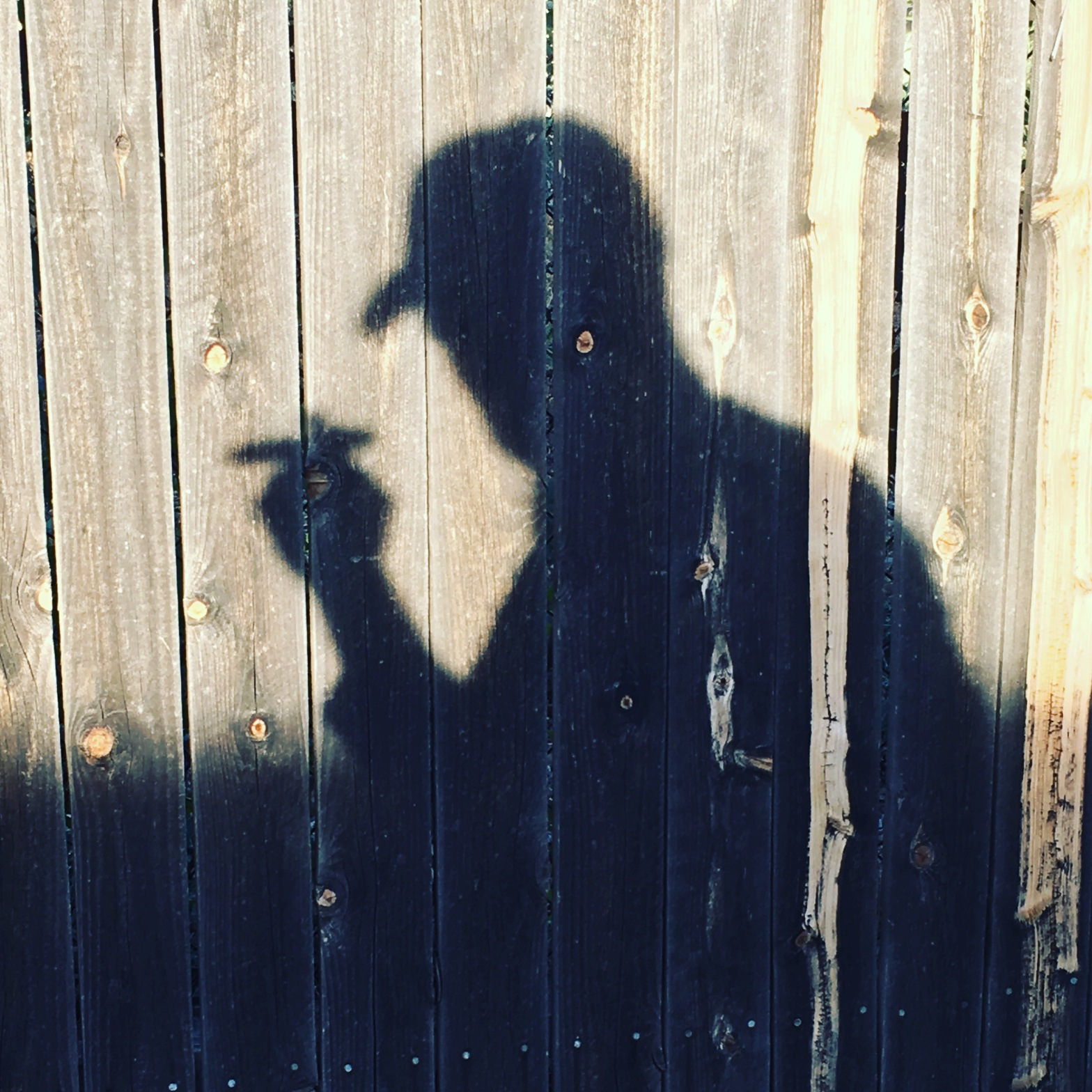 Shadow Man Smoking